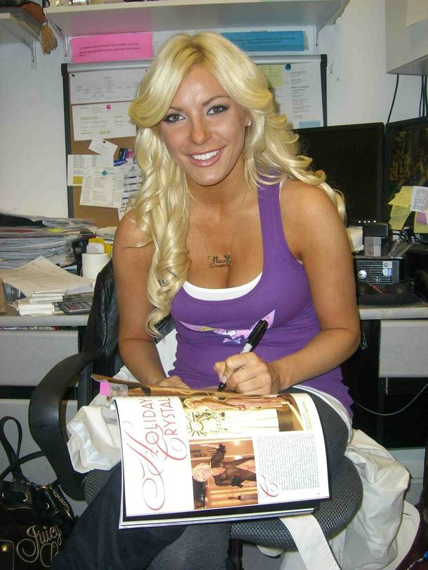 Crystal Harris at The Playboy Store in Caesars Palace.