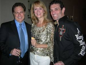Scott Zieger, Tina Walsh and Anthony Crivello celebrate <em>Phantom's</em> second anniversary at The Venetian in June 2008.