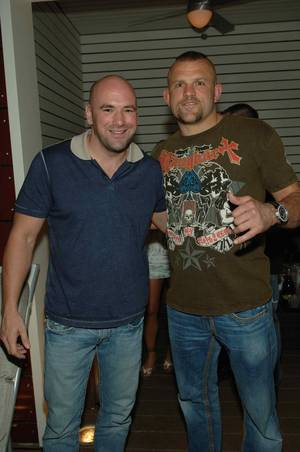 UFC exec Dana White and fighter Chuck Liddell.