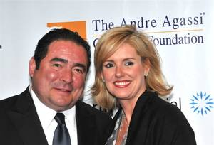 Emeril Lagasse and his wife, Alden.