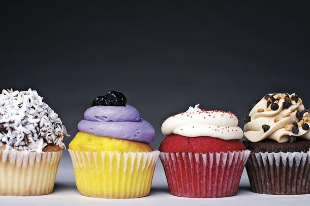 Sweet deliciousness: Free cupcakes just taste better.