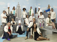 Aw, look - it's the cast of <em>Top Chef Season 5</em> in miniature New York.