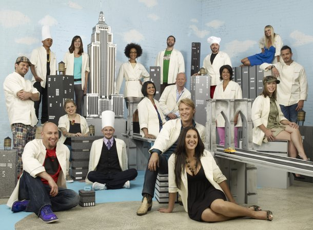 Aw, look - it's the cast of Top Chef Season 5 in miniature New York.
