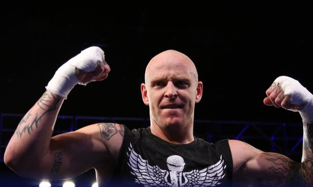 Sirius radio personality Jason Ellis won his fight with a knockout of opponent Brett Cooke in the first round.