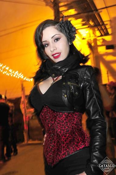 Anabel Miramontes, local model and winner of Original Sin Cider's modern-day pin-up contest.