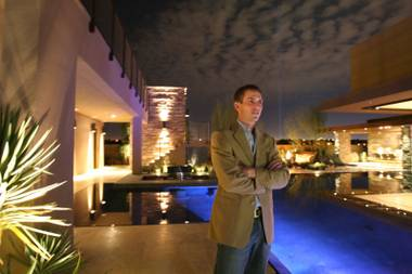 Tyler Jones, the president of Blue Heron Development, the designers of Las Vegas Marquis, the first completely green and wired custom home community in Las Vegas.
