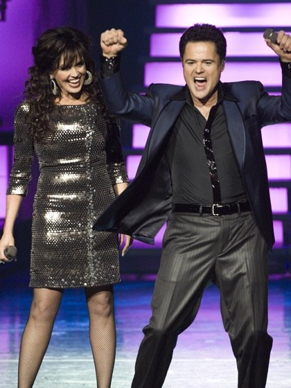 Marie and Donny Osmond.