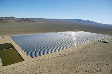 ACCIONA's Nevada Solar One array near Boulder City may be the only such project you'll see in Nevada for quite some time.