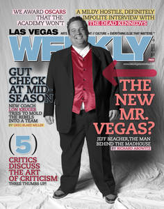"The cover line ""The new Mr. Vegas?"" made it into Mr. Beacher's ads, sans question mark."