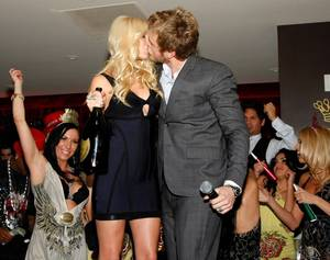 <em>The Hills</em> couple Heidi Montag and Spencer Pratt ring in 2009 at Christian Audigier in Treasure Island.