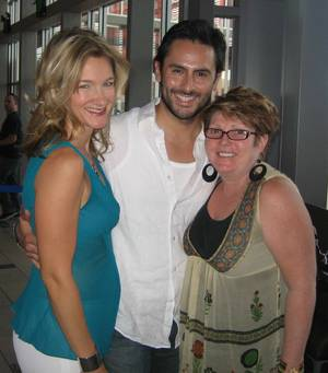 <em>Mamma Mia!</em>'s Carol Linnea Johnson, Victor Wallace and Robin Baxter.