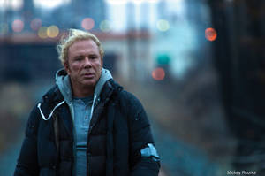 Mickey Rourke in <em>The Wrestler</em>.