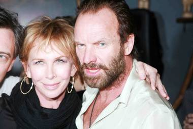 Sting and Trudie Styler in Tao Lounge at Sundance.