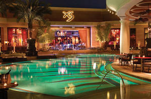 The pool in XS nightclub at the Encore.