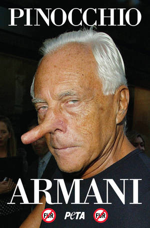 PETA is campaigning against fashion designer Giorgio Armani after he reneged on a promise to stop using fur in his collections.