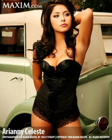 Arianny Celeste, pin-up, dream girl, aspiring actress, UFC ring girl and winner of Las Vegas Top Model 2009 contest.