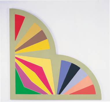 "Frank Stella, Sabra III, 1967, Acrylic on Canvas,120"" x 120""."