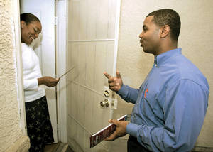 Horsford canvassing in his bid for State Senate in 2004.