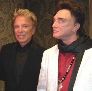Siegfried & Roy backstage after their reunion and farewell performance.