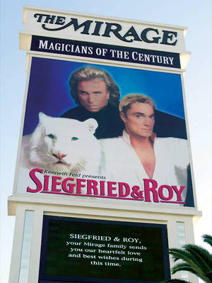 A message to Siegfried & Roy on October 8, 2003.