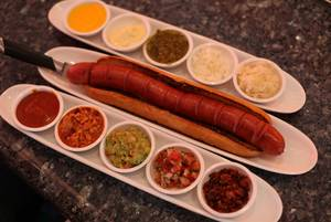 The Bachelorette - a 15-inch hot dog served with assorted condiments - adds a bit of Vegas to a menu taken almost entirely from the original New York location of Serendipity 3.