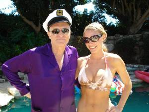 Hugh Hefner and Kelly Carrington.