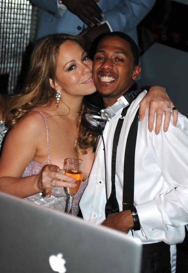 Mariah Carey and Nick Cannon at Moon in the Palms.