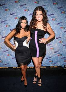 Kourtney and Khloe Kardashian host the opening of Sapphire Pool at The Rio.
