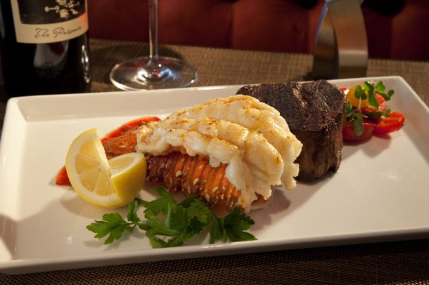 Enjoy a little surf with your turf at Rare 120.