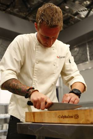 Michael Voltaggio gets to work on <em>Top Chef: Las Vegas</em>.