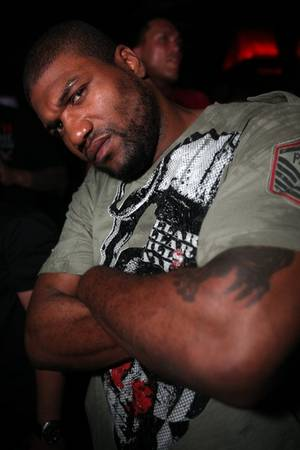 "Former UFC Light Heavyweight Champion Quinton ""Rampage"" Jackson at Rain."