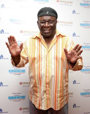 George Wallace at the premiere of <em>Smokey Robinson Presents: Human Nature</em> at the Imperial Palace.