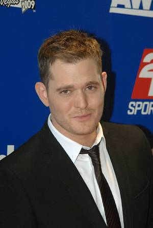 Singer-songwriter Michael Buble walks the red carpet of the 2009 NHL Awards at the Palms.