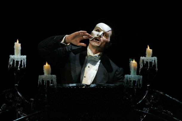 Brent Barrett as the Phantom in Phantom - Las Vegas Spectacular.