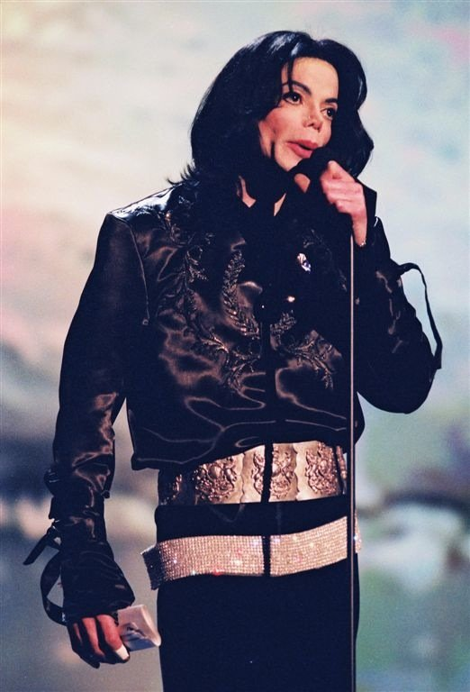 Michael Jackson at the Radio Music Awards at the then Aladdin Theatre for the Performing Arts in the Aladdin on Oct. 27, 2003.
