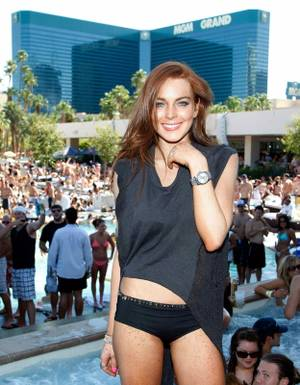 Lindsay Lohan celebrates her 23rd birthday at MGM's Wet Republic.