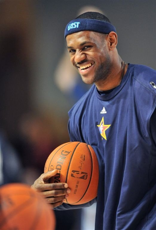 2009 NBA MVP LeBron James of the Cleveland Cavaliers.