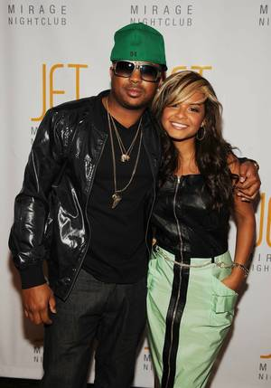 The Dream with fiancee Christina Milian at the Bank in the Bellagio.