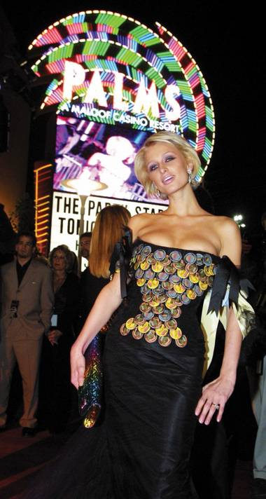 Paris Hilton at the Palms opening in November 2001.