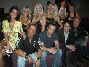 George Maloof, seated second from right, and the cast of <em>Sunset Tan</em>.
