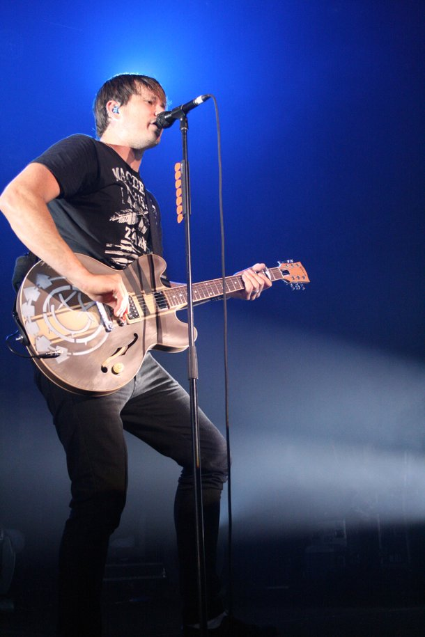 Guitarist Tom DeLonge performs with Blink-182 at The Joint at The Hard Rock Hotel.