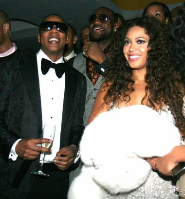 Jay-Z, LeBron James and Beyonce at the now-defunct 40/40 Club.