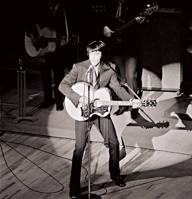 Elvis at the International, in the residency's early days.