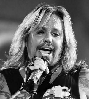Motley Crue frontman Vince Neil at The Joint in the Hard Rock Hotel.