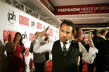 Actor Jeremy Piven poses on the red carpet during the Las Vegas premiere of The Goods at Planet Hollywood on Wednesday.