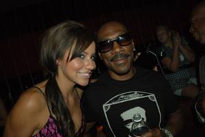 Joanna Hernandez and Eddie Murphy at Jet in The Mirage.