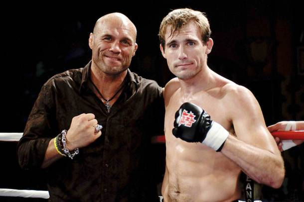 Randy Couture and Ryan Couture at the Tuff-N-Uff mixed martial arts event at The Orleans Arena.