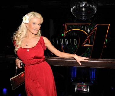 Holly Madison at Studio 54 in MGM Grand.