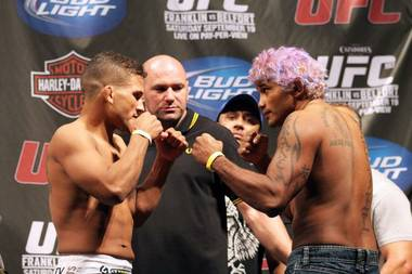 Tyson Griffin squares off against Hermes Franca in a catchweight bout of 159 pounds at UFC 103 Saturday night at American Airlines Center.
