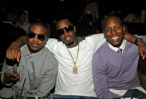 Singer Ray J, Sean 'P. Diddy' Combs and actor Tyrese Gibson attend the TAO and LAVO anniversary weekend held at TAO in the Venetian Resort Hotel Casino on October 3, 2009 in Las Vegas, Nevada.